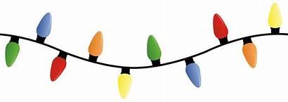 Lights Clipart Clips String Borders Bulbs Xmas