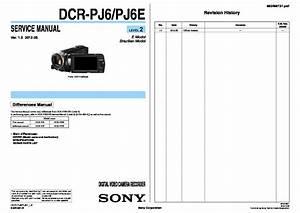 Sony Dcr-pj5  Dcr-pj5e  Dcr-pj6  Dcr-pj6e Service Manual