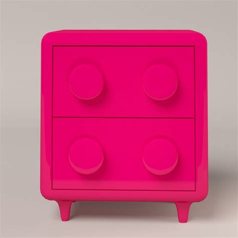 Pink Nightstand by Modern Pink Nightstand Max Free