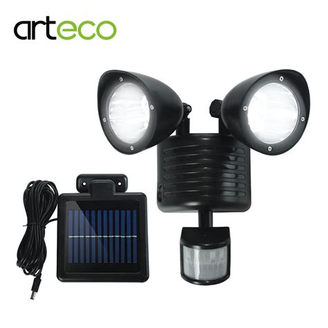 best outdoor led motion sensor light aliexpress com buy led solar light 22leds dual head pir