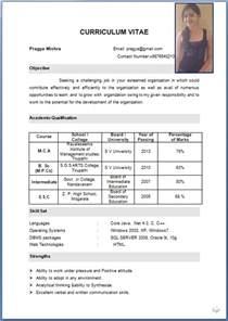 Resume CV Format PDF
