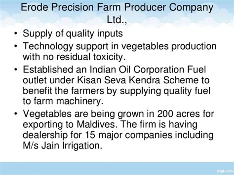 agricultural equipment manufacturer in maldives opportunities for farmer producers organizations in tamil nadu