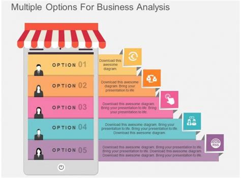 multiple options  business analysis flat powerpoint