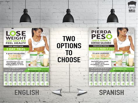 herbalife flyer custom print ready english