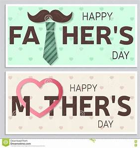 Happy Father's Day Greeting Card And Happy Mother's Day ...