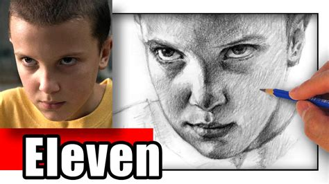 How to Draw Eleven from Stranger Things - Millie Bobby ...