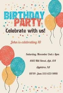 Wedding Invite Format Celebrate With Us Free Birthday Invitation Template