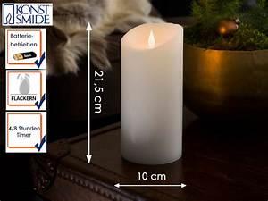 Led Echtwachskerze Mit Timer : echtwachskerze led flamme timer h 21 5cm flackerlicht ~ Watch28wear.com Haus und Dekorationen