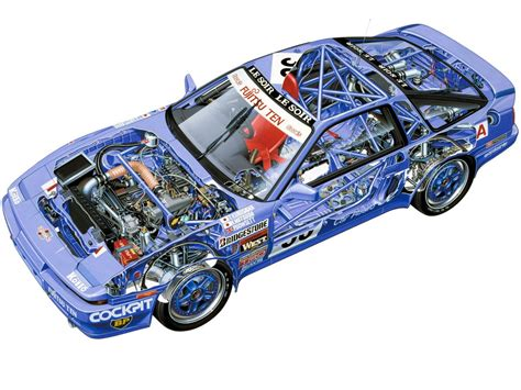 toyota supra  group  vehicle cutaways