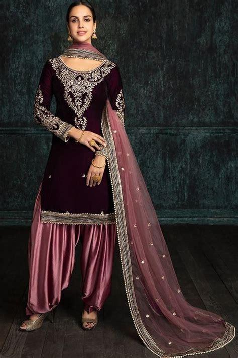 purple exclusive designer collectionof dress