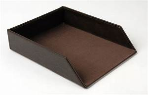 faux leather stackable document tray in paper trays With leather document tray
