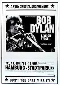 Bob Dylan German Concert Stadtpark Hamburg Germany Poster
