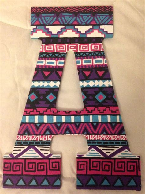 custom tribal print letters  bridgets craft shop