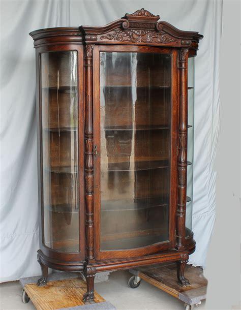 glass curio cabinet bargain s antiques 187 archive oak china curio