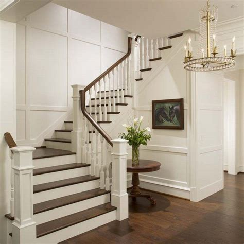beautiful interior staircase ideas  newel post designs interior staircase painted