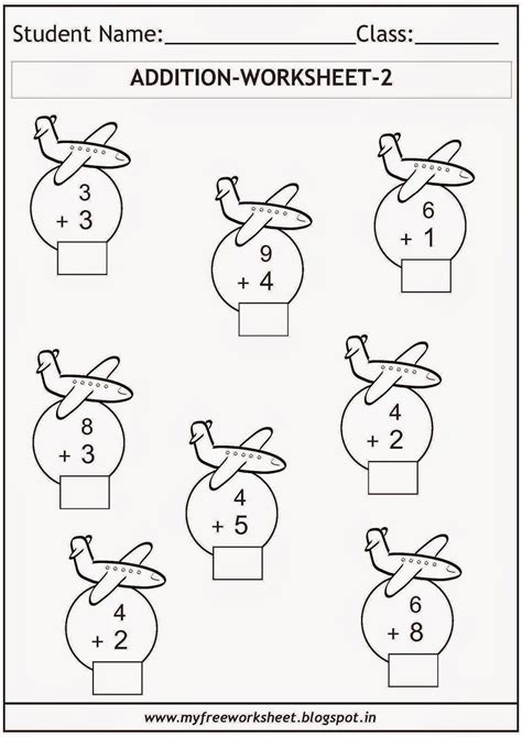 Addition Worksheets For Grade 1  Grade 1 Addition Printable Worksheets And Exercisesclass Maths