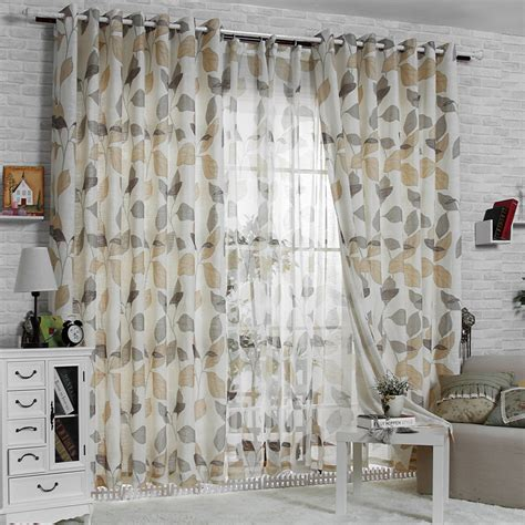 print pattern living room curtain