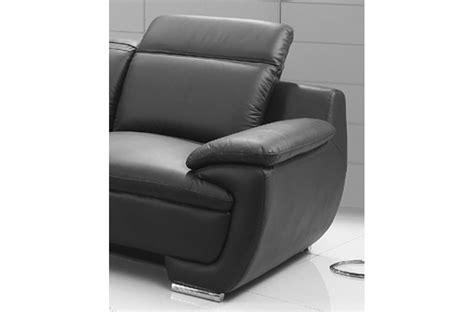vente privée canapé cuir canapé 3 places en cuir italien rimini noir mobilier privé