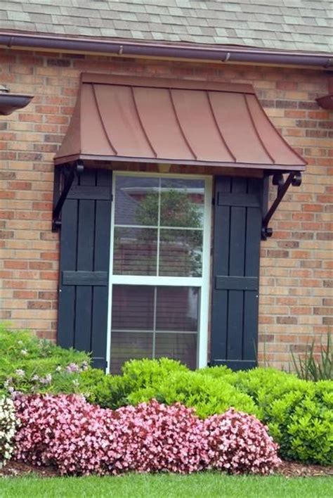 juliet window awning copper  lazy scrolls juliet style window awnings pinterest