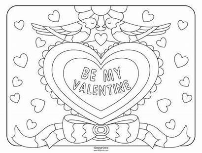 Coloring Valentine Valentines Shutterfly Heart