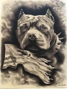American Bully Pitbull Drawings