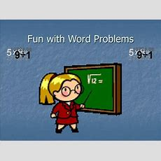 Ppt  Fun With Word Problems Powerpoint Presentation Id592188