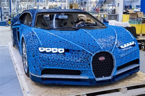 This feat of lego engineering took more than 13,000 work hours to develop and build, but the results were well worth the effort. Life-size LEGO Technic Bugatti Chiron model has real horsepower • GEEKSPIN