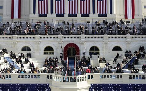 Where Biden stood for inauguration reminders of a failed