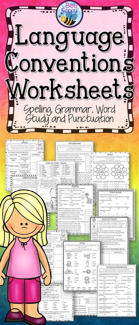 language conventions worksheets word study language conventions worksheets word study