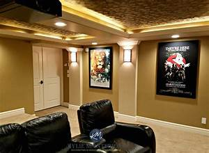 home theatre media room with textured acoustic ceiling With kitchen colors with white cabinets with star wars panel wall art