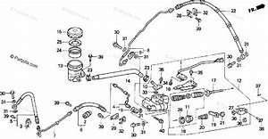 Honda Motorcycle 1998 Oem Parts Diagram For Rear Brake