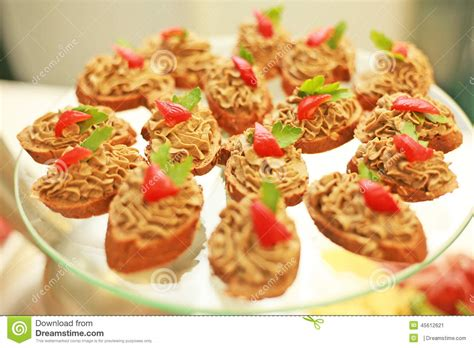 canapé foie gras canapes in a cafe stock image image of fresh