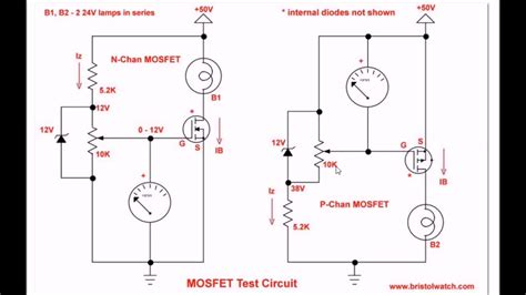 Simple Circuits For Testing Power Mosfet Transistors Youtube