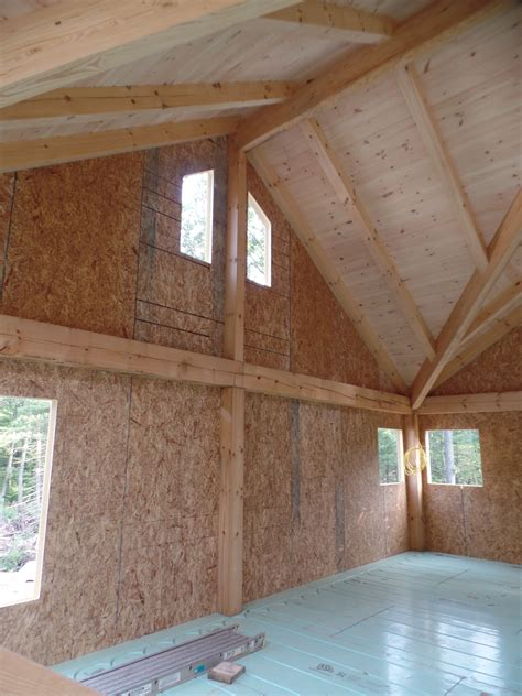 story post  beam home  construction part
