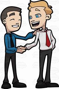 Two Business Friends Shaking The Hand Of Each Other