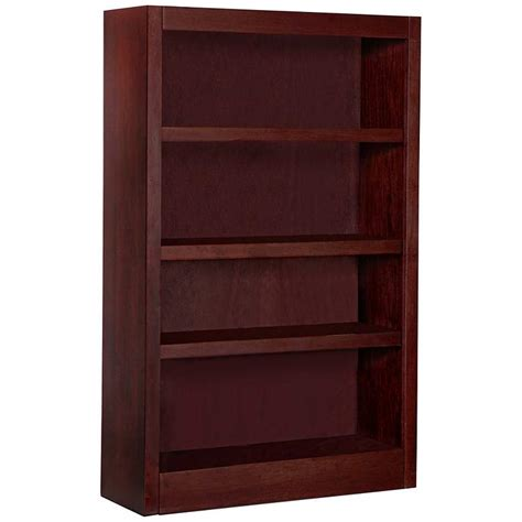 48 High Bookcase by Grundy 48 Quot High Cherry Single Wide 4 Shelf Bookcase