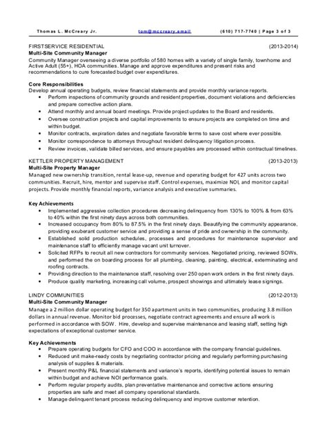 property manager resume assistant property manager resume