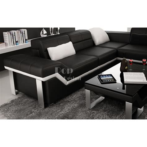 canape angle xl canapé d 39 angle cuir panoramique design torino xl pop