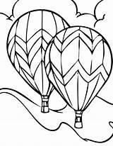 Balloon Coloring Air Printable Balloons sketch template