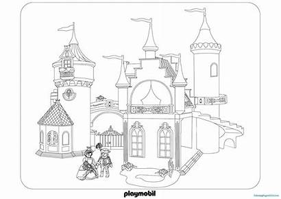 Playmobil Coloring Pages Castle Getcoloringpages
