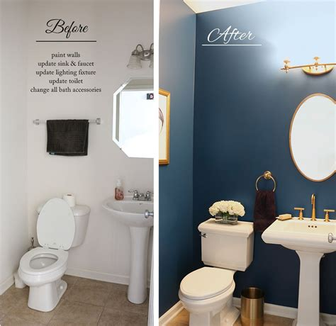 powder room makeover before and after project bambino