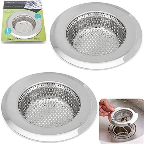 kitchen sink sieve 2pcs stainless steel kitchen sink strainer large wide 2882