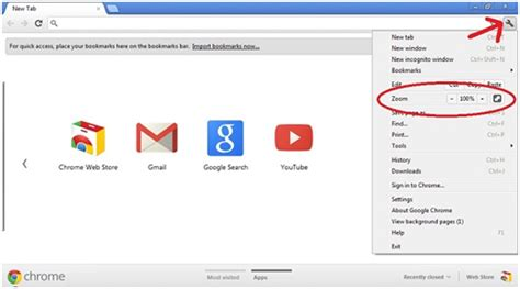 How To Resume In Chrome Browser by Customize Chrome How To Change The Size Of The