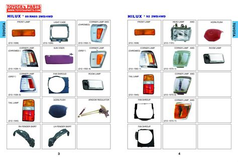 Toyota Parts Usa by Toyota Hilux Spare Parts Catalogue Jidimotor Co