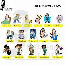 Visual Vocabulary Words About Health Problems  English Vocabulary  Pinterest Teaching