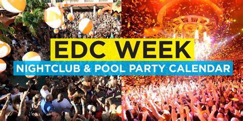 edc week las vegas event calendar electronic vegas
