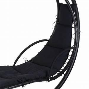 Fauteuil Suspendu Noir : fauteuil suspendu alt a noir balancelle eminza ~ Teatrodelosmanantiales.com Idées de Décoration