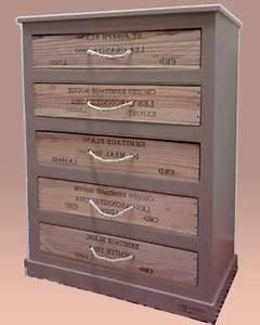 Caisse De Vin En Bois : chiffonnier en carton et en bois chiffonnier carton et ~ Farleysfitness.com Idées de Décoration