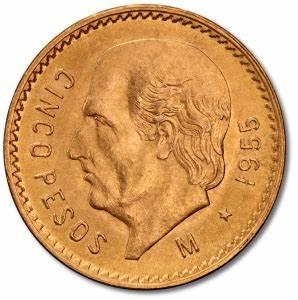 Top 40 Charts Sweden 5 Mexican Pesos Hidalgo Gold 1905 1955 Coininvest
