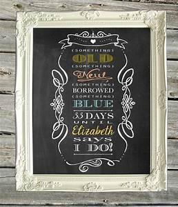 bridal shower chalkboard print sign personalized With chalkboard wedding shower signs